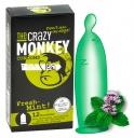 413127 Kondómy The Crazy Monkey Fresh-Mint